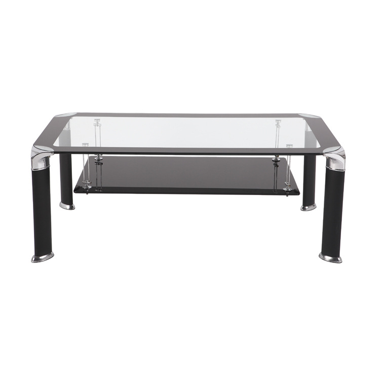 metal frame and tempered glass top coffee table
