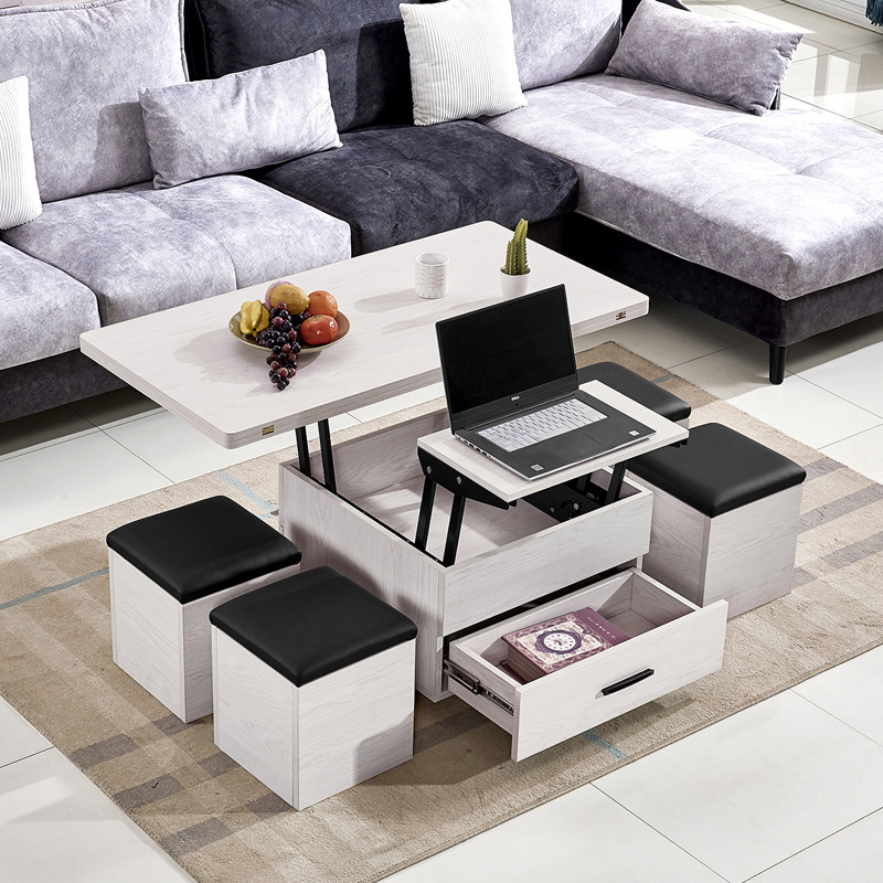 space saving lift up coffee table with 4 seats