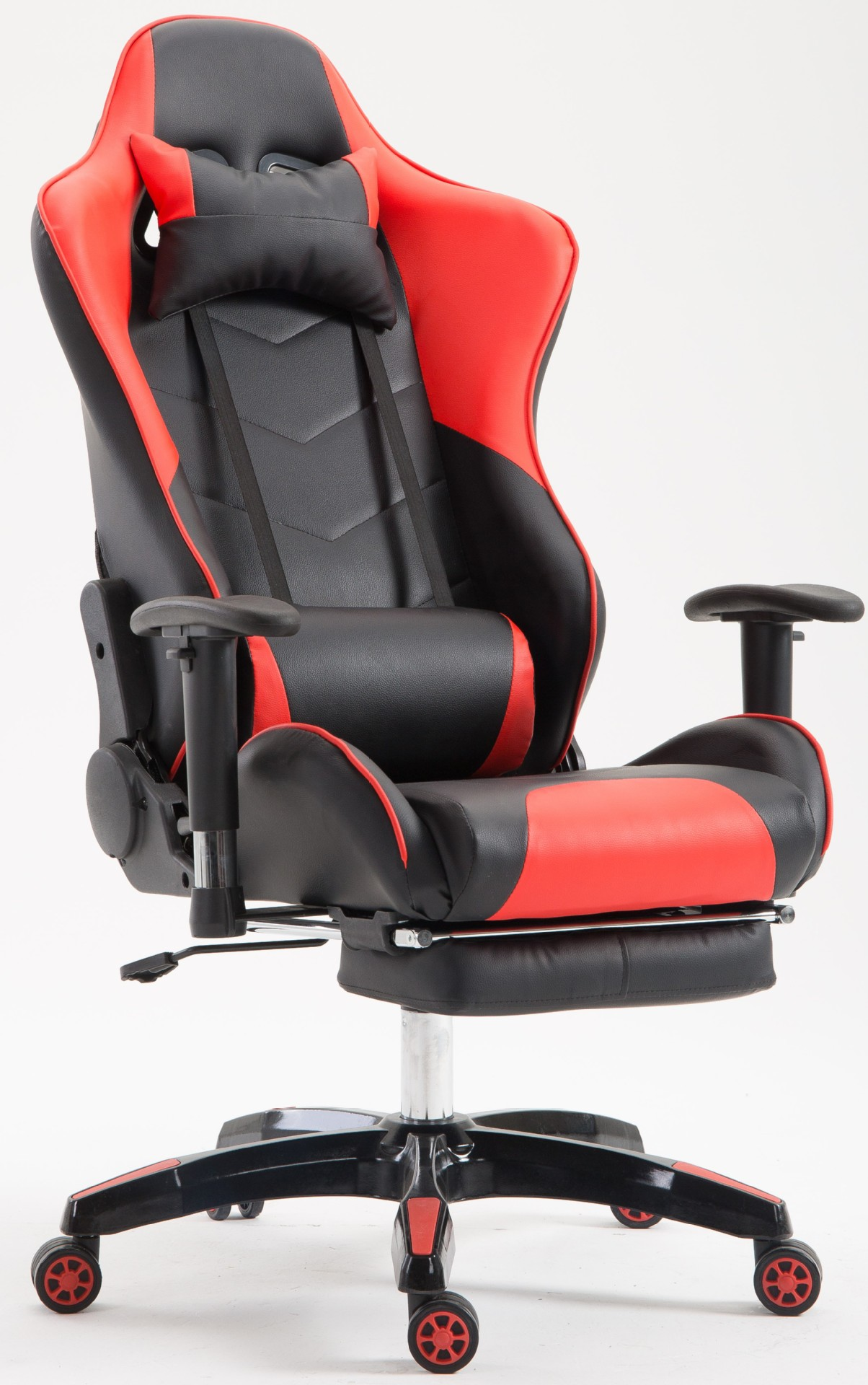 carbon fiber leather 180 reclining gaming chairs with footrest
