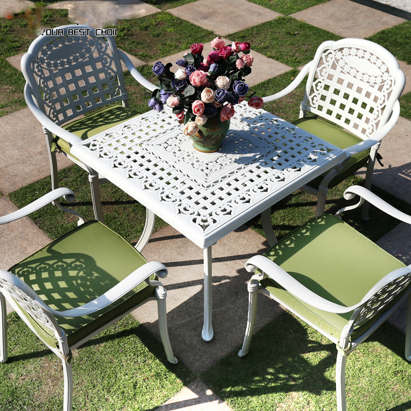 white copper square outdoor dining talbe wholesaler china
