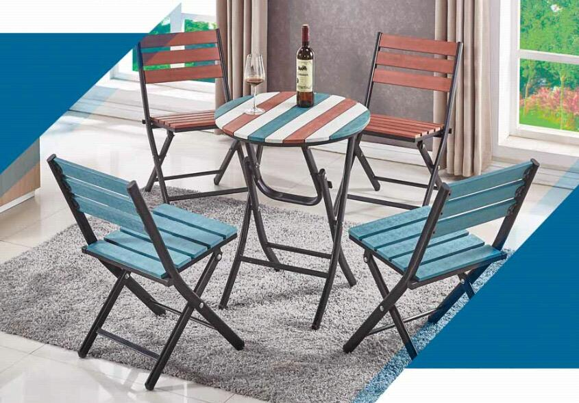 folding plastic pool lounge chairs and dining table